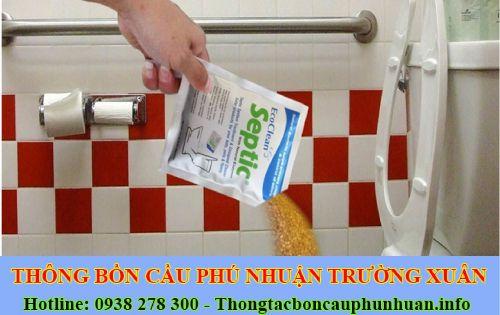 Chống hôi nhà vệ sinh bằng bột thông bồn cầu