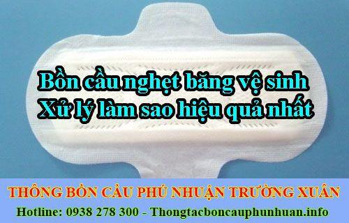Bồn cầu nghẹt băng vệ sinh xử lý làm sao hiệu quả nhất