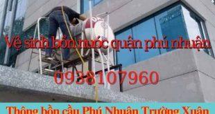 Dịch vụ vệ sinh bồn chứa nước của công ty Trường Xuân