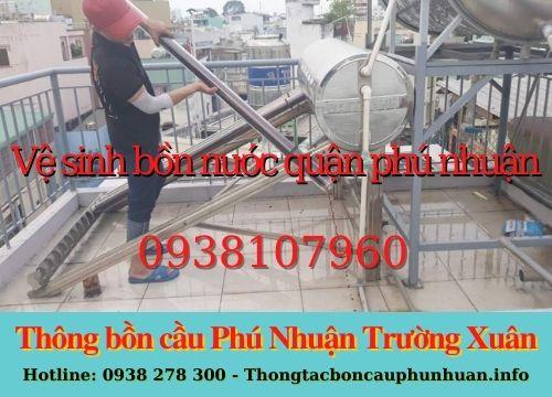 Bảng giá vệ sinh bồn nước quận Phú Nhuận mới nhất