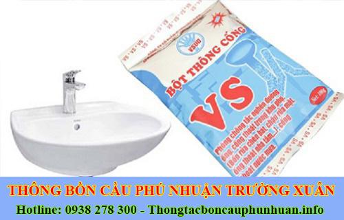 Bán bột thông cống nghẹt Quận Phú Nhuận giá rẻ 0938107960