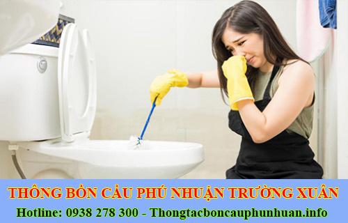 Xử lý mùi hôi bồn cầu toilet nhà vệ sinh Quận Phú Nhuận Trường Xuân.