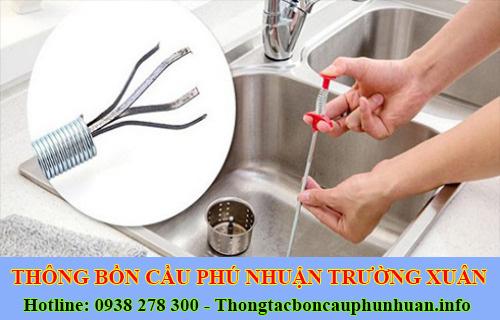 thông tắc nghẹt bồn rửa chén bát bồn rửa mặt lavabo Quận Phú Nhuận